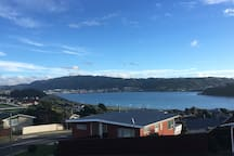 View of Porirua inlet from the living room