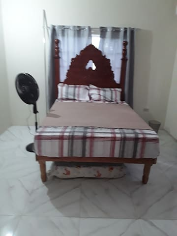 """Queen bed with a single mattress on the floor, We also have the 30"""" Air Mattress if needed!"""