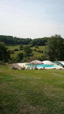 superbe vue campagne,piscine privée,sans vis à vis