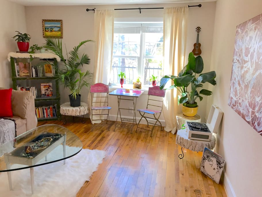Plenty of natural light and air-purifying house plants