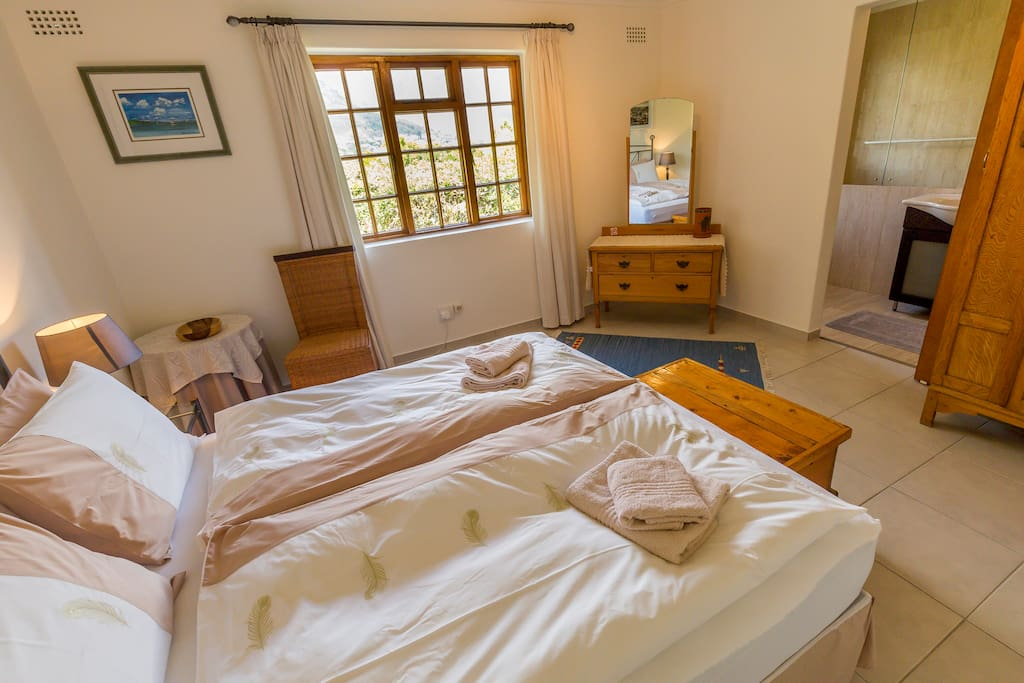 one of the double rooms with mountain view