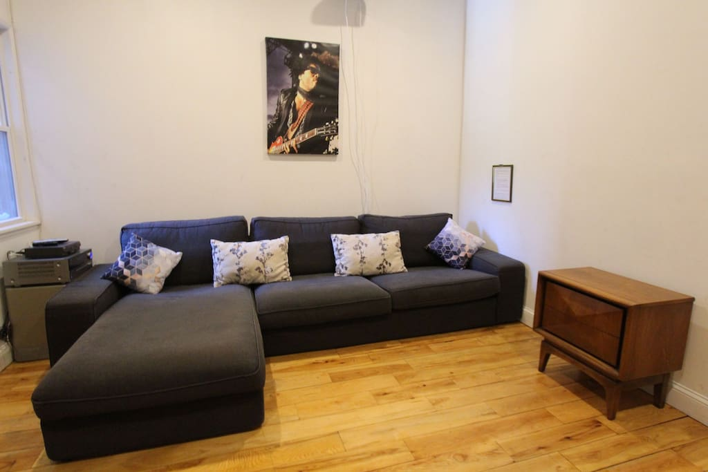Living Room with Projector for TV