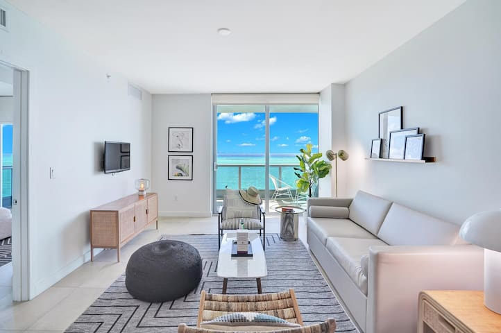 💻 Dharma | Miami Beach | Executive Tower 1BR | Ocean Front View + Private Balcony and Den 💻