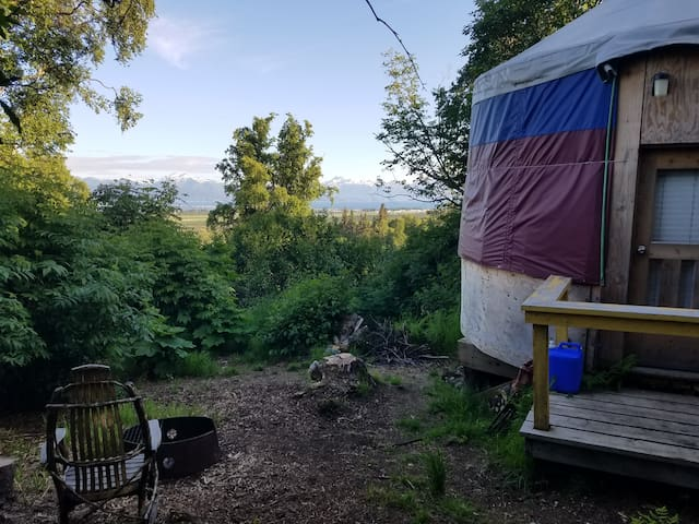 Cozy Yurt East of Homer