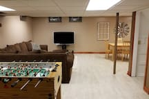 Tournament style Foosball table.