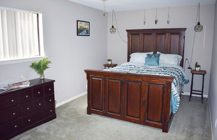 Master Bedroom with a queen size bed