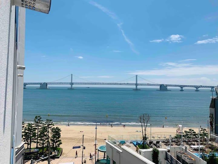 NEW/광안리바다/해변가5초/오션뷰/살균소독/광안리숙소/오픈특가