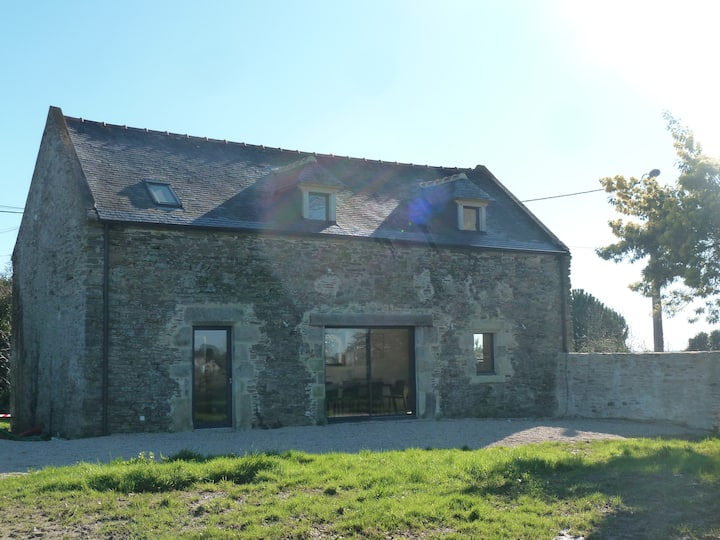 Lichen House à Penestin Morbihan, maison vue mer