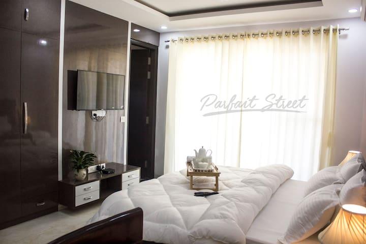 Parfait_Street02 · Parfait Street 3Bhk Service Apartment Near Fortis