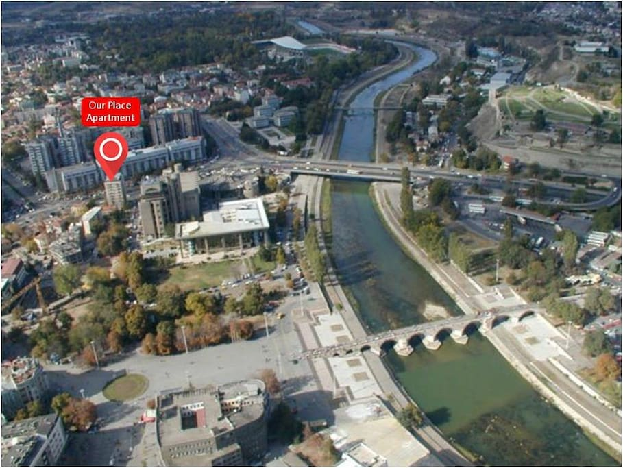 Very central location next to the Main square and Stonebridge in Skopje