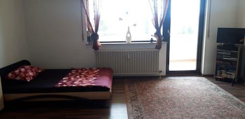 ganze Wohnung mit Balkon