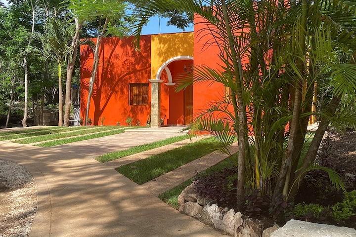 Cómoda Villa de 3 habitaciones, piscina y Patio