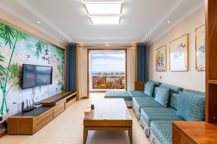 南戴河全户型看海电梯高层两居室豪华装修