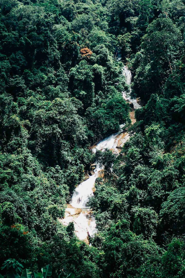 Overview of the Titi Kerawang falls