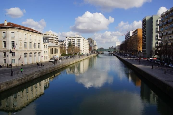 Lovely apartment near canal de l'Ourcq