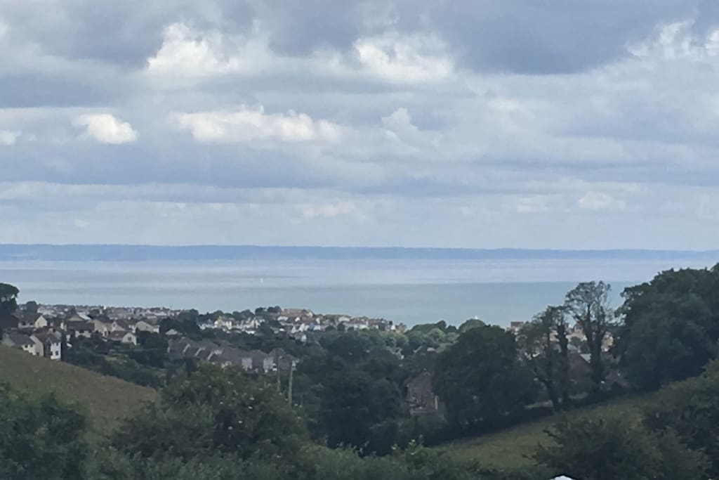 A lovely day overlooking Brixham from the apartment's balcony.