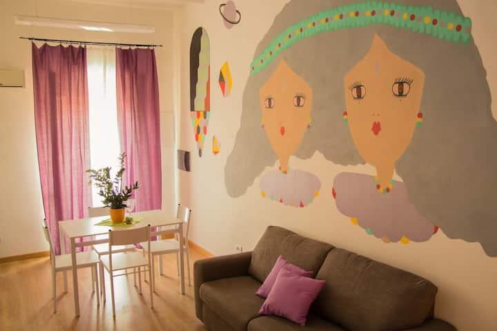 Lilac Apartment in Villanova center
