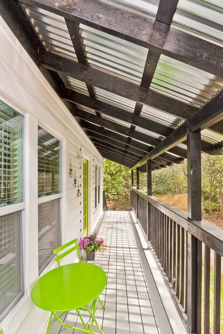 Front Porch with Bistro table and chairs
