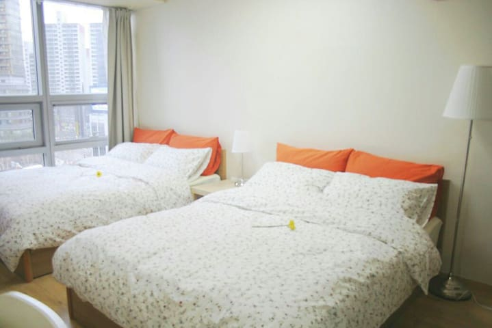 1500 X 2000 mm Queen sized 2 beds for 4 people