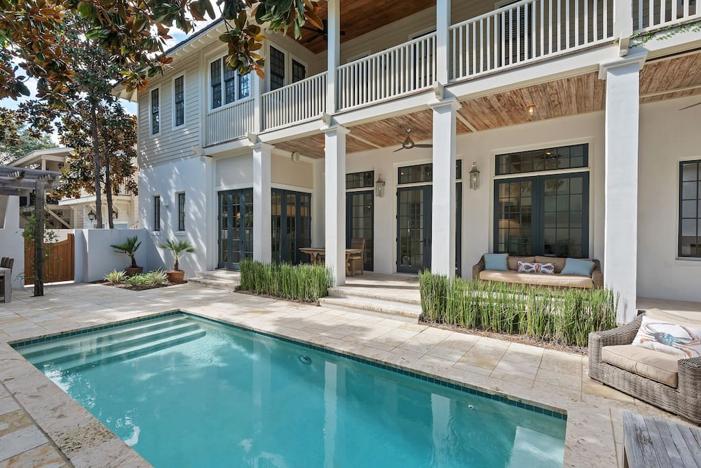 Spend the afternoon around the private heated pool or walk down the boardwalk to the Coquina Pool!