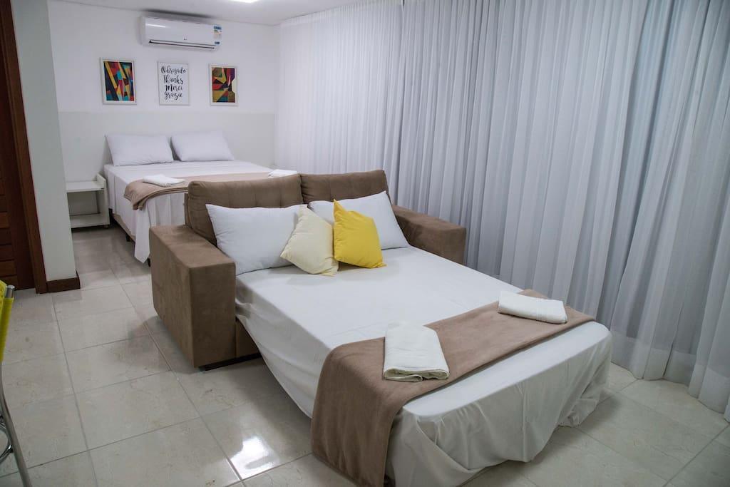 Luxo Studio : Sofa cama Casal , Cama Casal