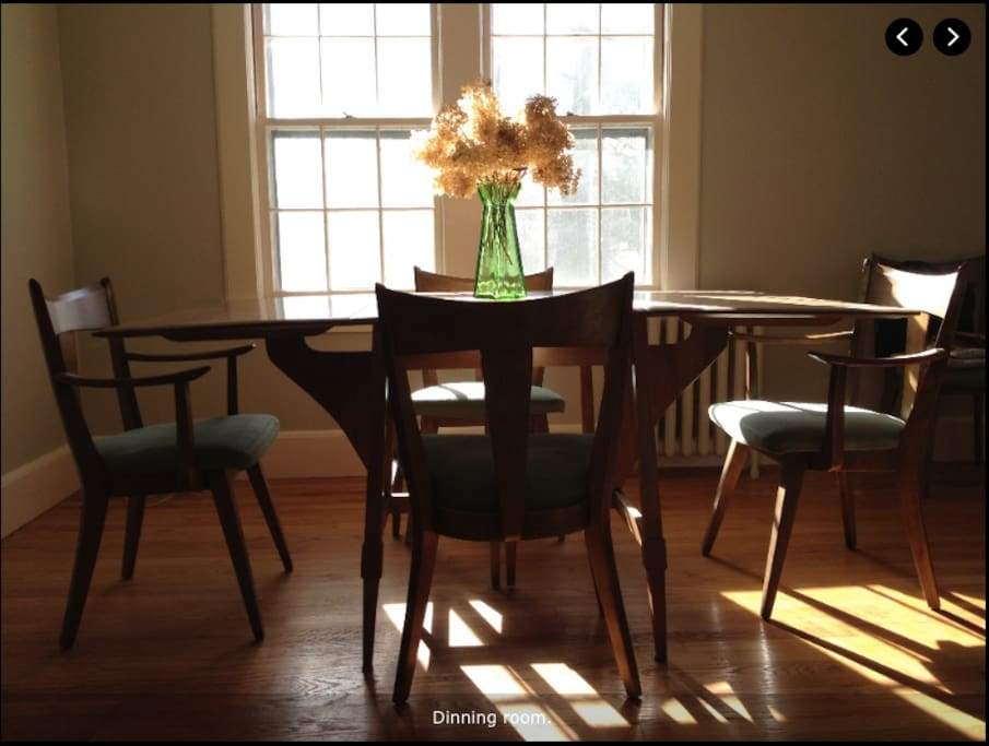 Dining area in Living Room. Lots of natural light