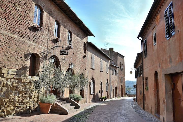 One street close to your Apt. Many nice Tuscan restaurants & Bars