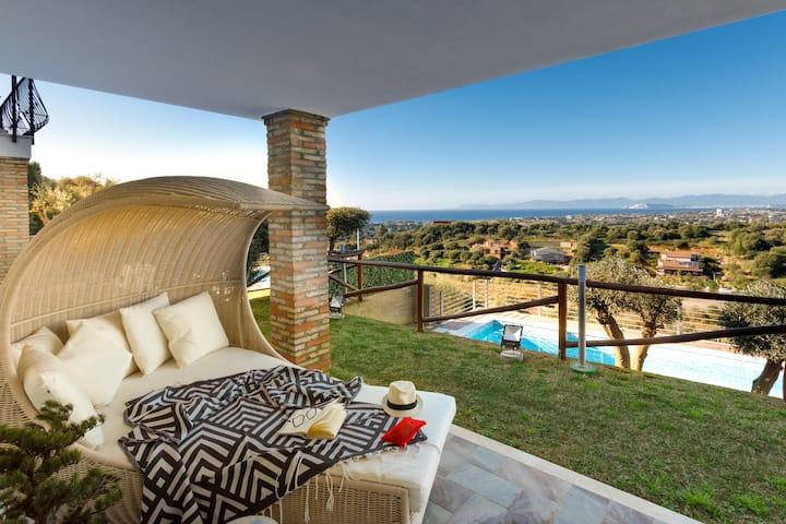 Villa Alfonso 1 - Private pool - panorama sul mare