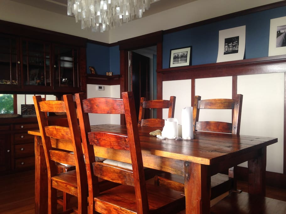Formal dining room for entertaining friends or family.