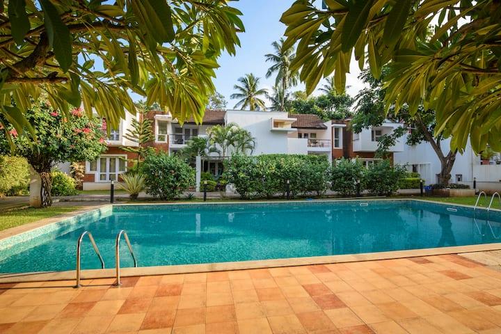 Luxury 3Bhk Villa~Pool~Candolim~Beach500m