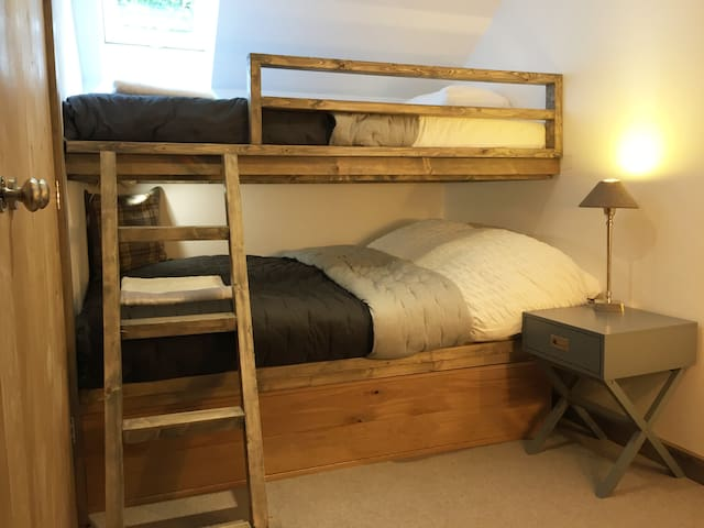 Second bedroom with small double and single over
