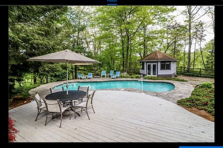 Wooded retreat in Weston CT
