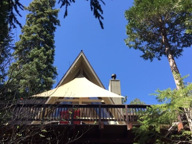 Lake Arrowhead is known for clear blue skies and bright green trees!