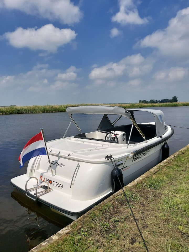 Overnachtingssloep en daghuur prachtig Friesland!