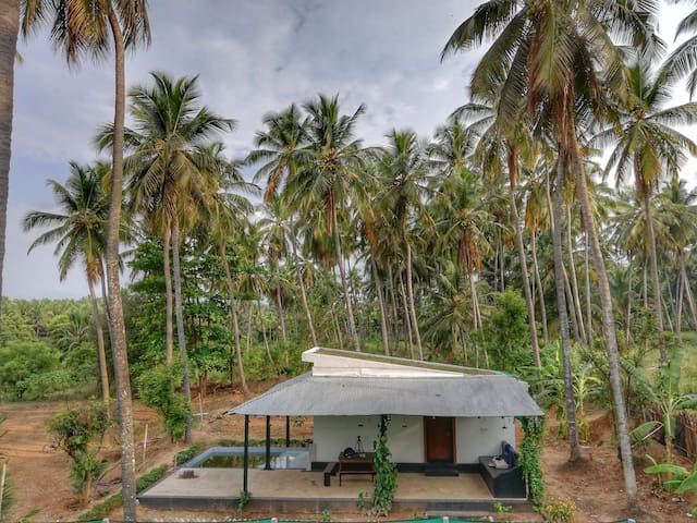 independent cottages with private plunge pool and lawn