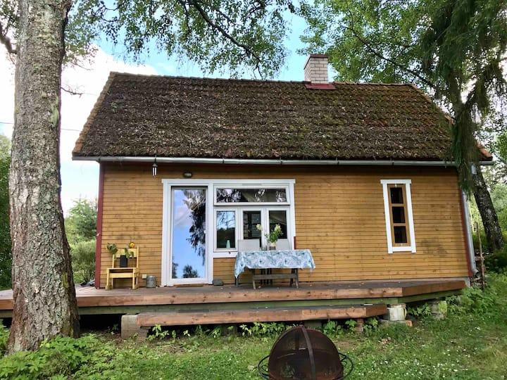 Sauna house in the wilderness
