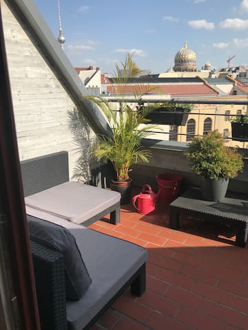 Cosy roof top apartment