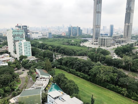 royale springhill kemayoran with golf field views