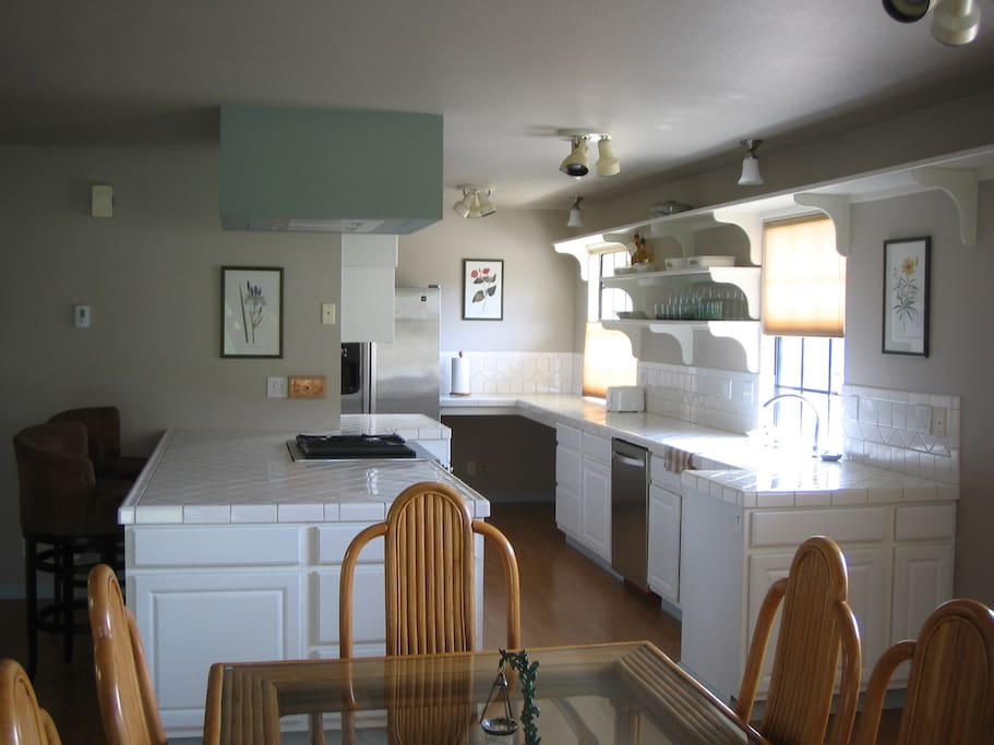 Large, open kitchen.