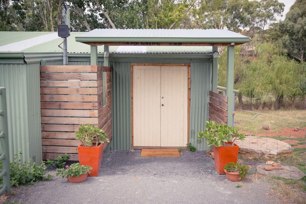 Entrance to Shearing Shed