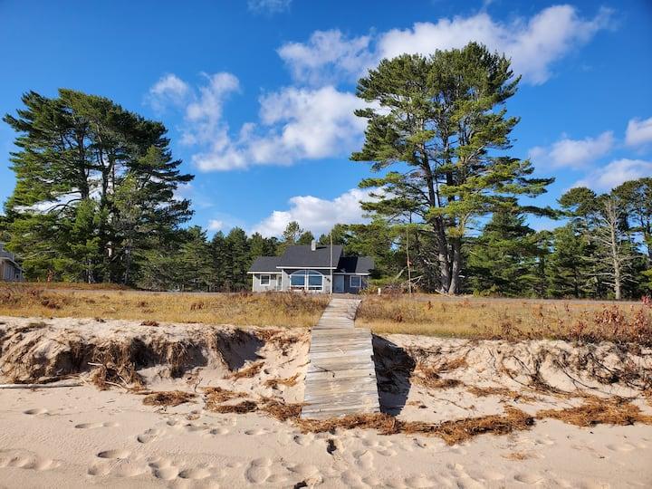 A beach house on Lake Superior, near Mt. Bohemia