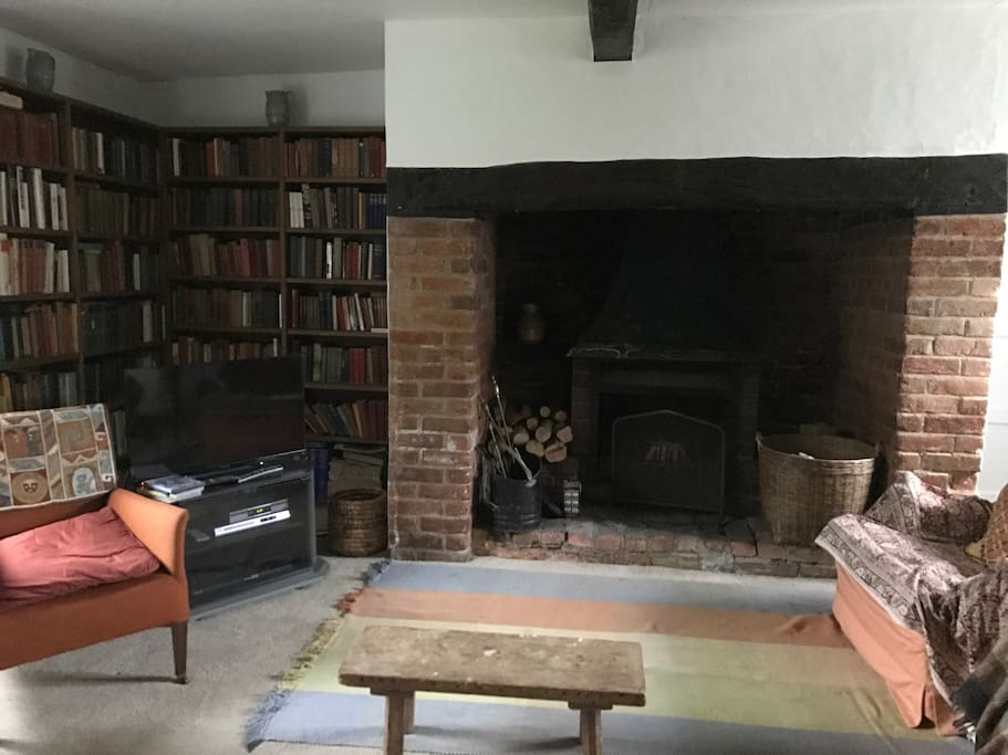 Main sitting room looking towards the fireplace
