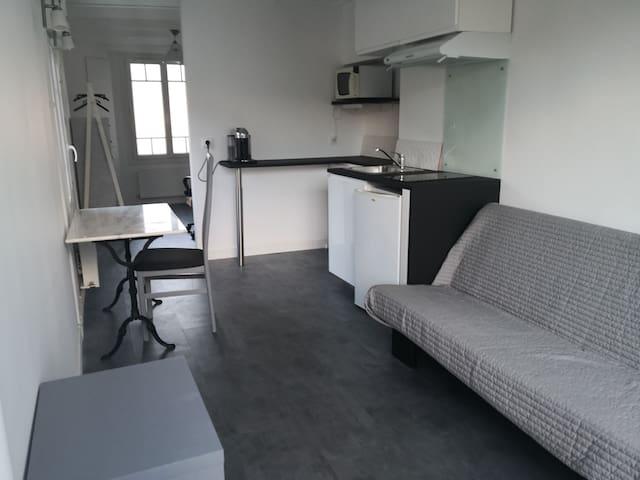 T1 bis 23 m2 proche Loire 10min centre Tours