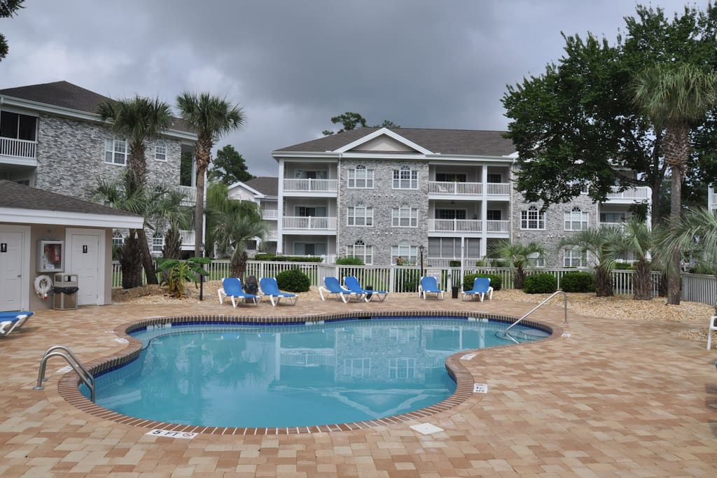 Condo is right beside the pool