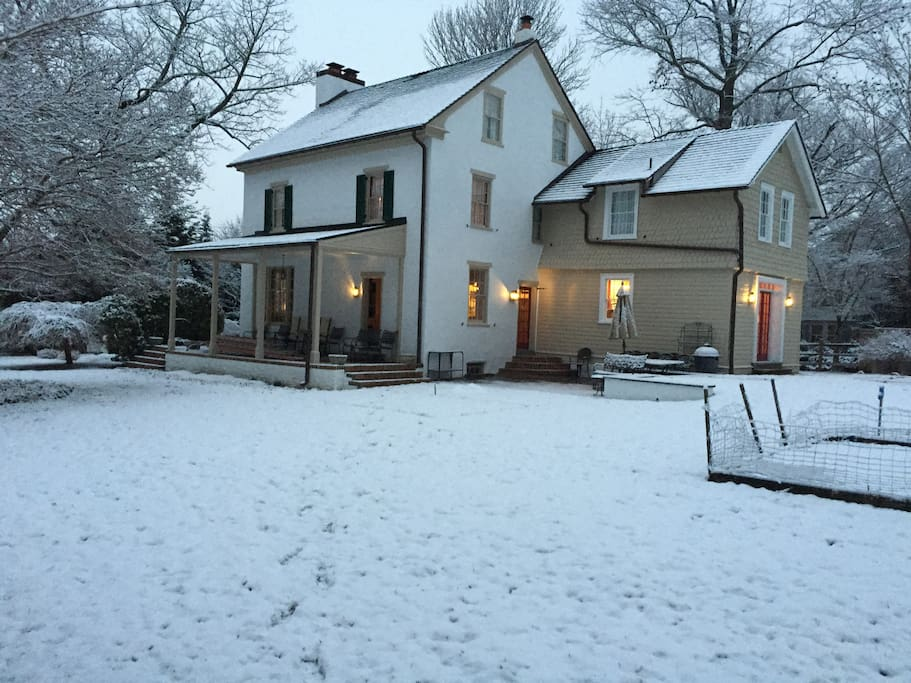Recently restored throughout, brought back to traditional Pennsylvania farmhouse style. (Winter)