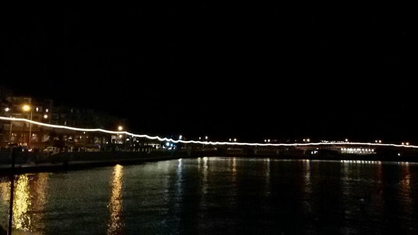 Mellieha Bay by night