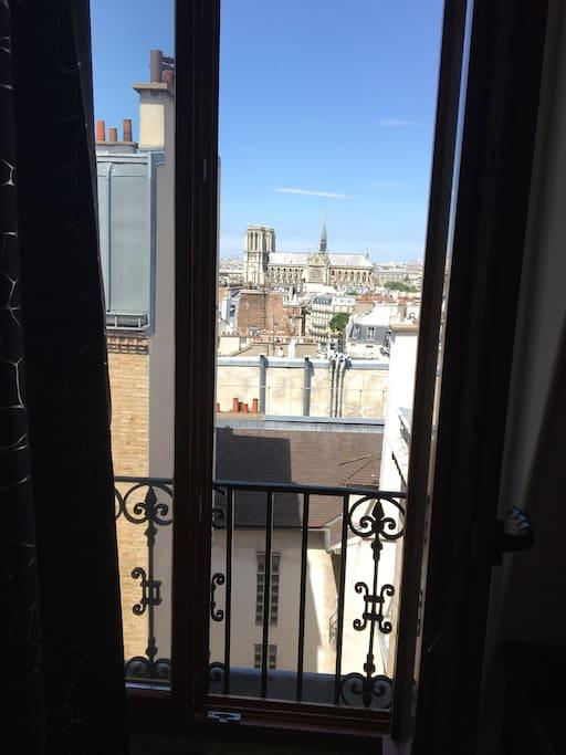 Vue sur la cathédrale Notre Dame de Paris