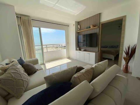 Sea view, modern apartment on the beach