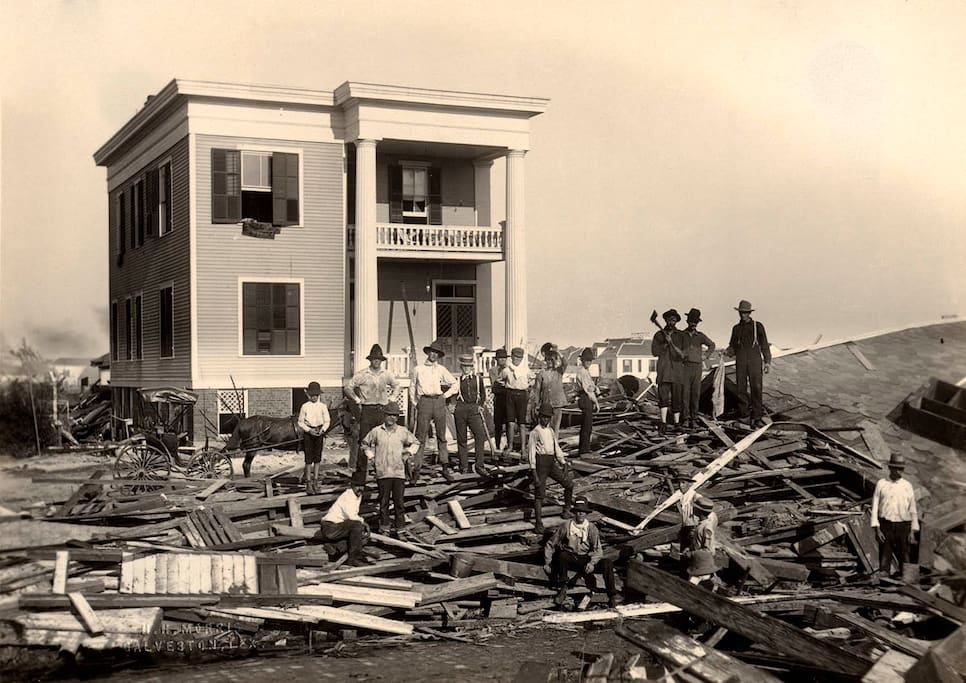 Historic Photo after the 1900 Storm