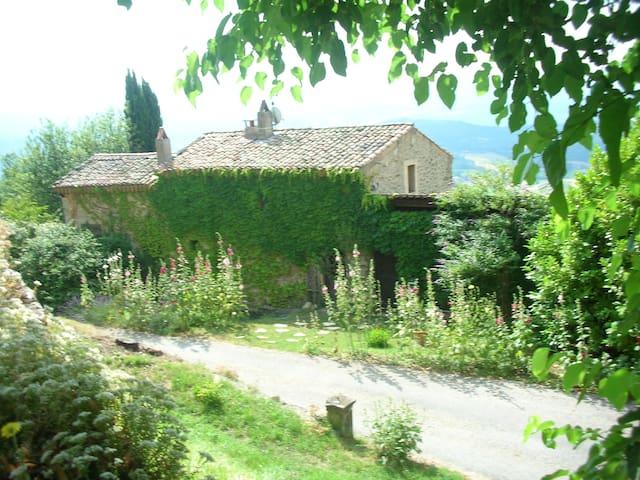 Old medieval silk farm in Drôme